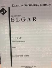 Elgar: Elegy For String Orchestra. Score. New