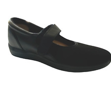 Drew Mary Janes Orthopedic DiabeticTherapeutic Leather Stretch Black Shoes 9.5 N