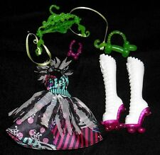 NEW Honey Swamp Monster High Doll Clothes Outfit Boots Shoes Dress Chic Du Freak