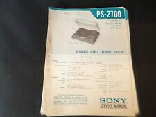 Original Service Manual Schaltplan Sony PS-2700