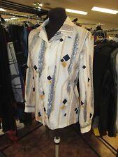 Vintage Fire Islander Shirt Button Up Blouse Top Mod 70's  7/8 small print 1970s