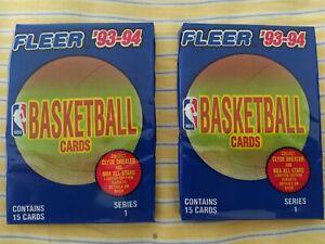 1993-94 Fleer série 1 - 2 factory sealed packs - 15 cards each, Jordan??