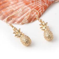 Fashion Vintage Women Gold Pineapple Ear Hook Dangle Earrings Jewelry 1Pair