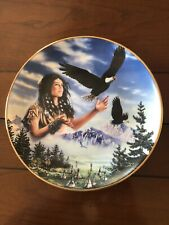 Royal Doulton Franklin Mint Maiden Of The Majestic Eagle Plate By David Penfound