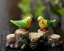 4 pcs Miniature Parrot Fairy Garden Ornament Cute Terrarium Bird FAST US SHIPPIN