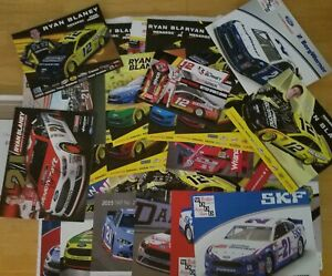 RYAN BLANEY NASCAR POSTCARD 31 CARD LOT INCLUDES 2 AUTOGRAPHED & 1 2021 CARDS
