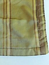 Standard Pillow Sham Muted Colors Gold Brown Black Striped polyester Light Pad