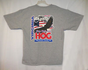 Harley Virginia State Rally 2003 HOG XL T-Shirt Fairfax, VA 1903-2003 100th