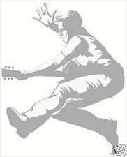 Boy Rock Star with Guitar Sudden Shadow Mini Mural Applique 02192