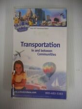 100% Educational Videos Transportation In & Between Communities Vhs W/ Guide