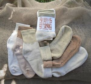 Organic Threads Colorgrown Organic Cotton Short Top Socks NEW Made in USA