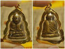 Rare Old Phra LP NGERN, Wat Bangkran, Thai Buddha Amulet Pendant #P32