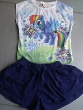 ENSEMBLE ETE FILLE 2 PIECES DONT ORCHESTRA ET LITTLE PONY 6 ANS