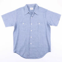 Vintage BIG MAC Permanent Press Blue Casual Worker Shirt Size Men's Large