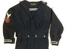 1900-1920's - Victorian, Edwardian Vintage Little Boys Wool Navy Sailor Suit