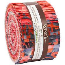 Robert Kaufman Artisan Batiks Jelly Roll up Helsinki Watermelon Lunn Fabrics
