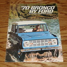1970 Ford Bronco All-Purpose 4-Wheel Drive Foldout Sales Brochure 70