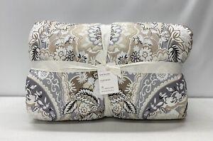 NEW Pottery Barn Celeste Damask KING~CAL KING Comforter Quilt~Multicolor