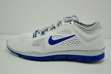 Womens Nike Free 5.0 TR FIT 4 Running Shoes Size 10.5 White Blue Grey 642069 104