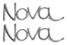 """""""Nova"""" FENDER / QUARTER PANEL EMBLEM 68-72 NOVA *PAIR* TRIM PARTS 3048"""