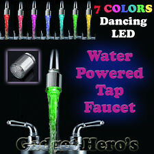 7 Color Changing LED Tap Faucet Glow for Bathroom Kitchen Auto Water Powered