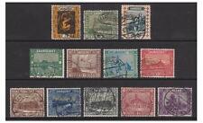 Saar - 1922, 3c - 20c, 30c - 3f Landscapes stamps - G/U - SG 84/8, 90/6