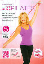 Mari Winsor's Pink Ribbon Pilates  DVD.. Pilates- 5 Workouts.. NEW.. Free Band