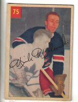 1954-55 Parkhurst Hockey Card #75 Nick Mickoski New York Rangers VG/EX.