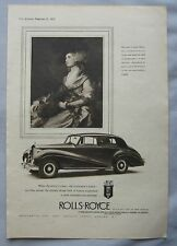 1953 Rolls Royce Original advert No.1
