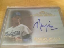 2013 Topps Tribute Sephia Parallel Auto Maury Wills Dodgers numbered /35 SP