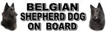 BELGIAN SHEPHERD DOG ON BOARD No2 Sticker by Starprint