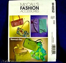 McCall's 4852 Women's Day 6 Handbag, Clutch Patterns
