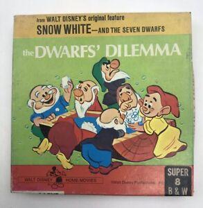 Walt Disney Super 8 Home Movies Snow White Seven Dwarfs Dilemma B&W Silent 8 mm