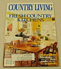 Country Living Magazine August 2000 Fresh Country Kitchens, Hawaiian Prints