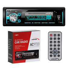 Car Stereo Head Unit Radio Bluetooth Built Microphone REMOTE USB SD AUX MP3 UK