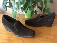 Ladies Russell & Bromley Aquatalia brown suede loafer style shoe UK 4.5 EU 37.5