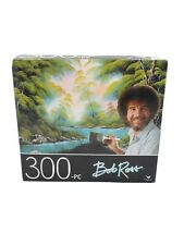 "300 piece Jigsaw puzzle Bob Ross ""DEEP FOREST LAKE"" size 14""x 11"" Cardinal New"