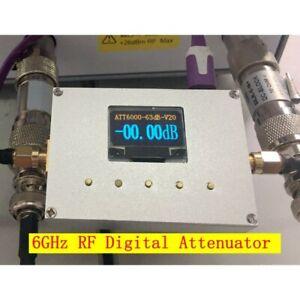RF Digital Programmable Attenuator 6GHz 60DB Step 0.25DB OLED CNC ATT-6000V2.0