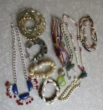 Mixed lot jewelry head band ring necklace bracelet modern lot misc