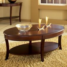 Steve Silver Troy Oval Wood Coffee Table, Cherry, 48 inches