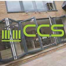 2 LEAF ALUMINIUM BIFOLD DOORS - 2000MM X 2100MM - £600 A LEAF INC VAT