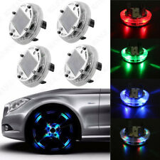 4pcs Solar Car Wheel Center Multi Color transform Light Rim Hub 12 LED Flashing