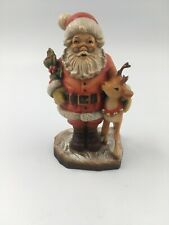 Anri 7� Santa with Deer Reindeer Limited Edition #59/750 Antler Chipped