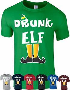 DRUNK Elf T Shirt Family Pyjama PJ's Idea Funny Christmas Xmas Gift Top