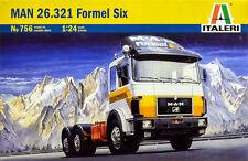 Italeri MAN 26.321 FORMULA SIX 6 6x4 AUTOCARRO CAMION 1:24 Kit di costruzione