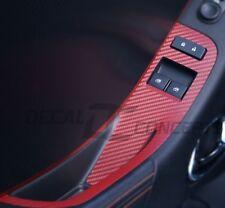2012-2015 Camaro RED Carbon Fiber Door Switch Panel Trim Accent Decal kit (2)