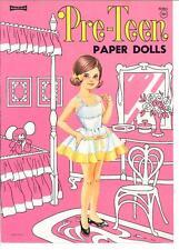 VINTAGE UNCUT 1960S PRETEEN PAPER DOLLS HD LASER REPRODUCTION~LO PR~HI QUAL