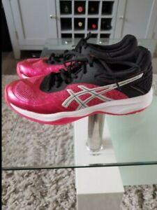 Size UK 6 - ASICS GEL-Netburner Ballistic FF Black and Pink