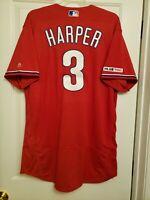 100% Authentic Philadelphia Phillies Bryce Harper Flex Base Jersey Size 48 XL