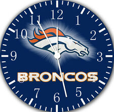 """Denver Broncos wall Clock 10"""" will be nice Gift and Room wall Decor E94"""